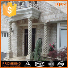 Luxury manor design natural stone decorative lighted onyx columns