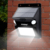 IP65 Waterproof dual-headed motion sensor outdoor solar sensor wall light with 7 color changing