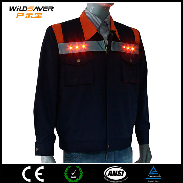 night vision safety jacket brand name clothing with led
