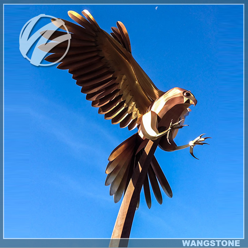 Outdoor Corten Steel Fierce Eagle Sculpture