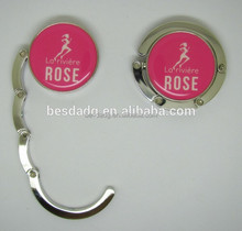 Fancy Metal Alloy Bag Hanger with Printed Logo & Epoxy