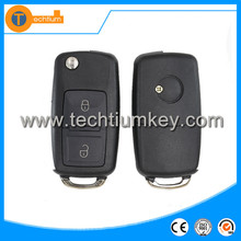car key replacement for VW 3 Button 1J0 959 753 AH 433MHZ Remote key Blank with uncut blade with battery