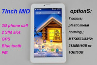 7inch 3g dual core made in china competitive price tablet pc 1G/8G MTK6572 or8312 FM GPS BT 0.3M/2.0 camera