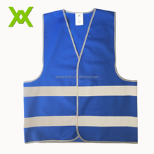 Wholesale custom blue reflective running safety vest