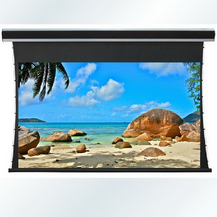 Wholesell Good price tab tensioned roll up matte white projection screen