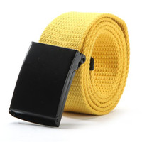 MOON BUNNY Unisex Men Waist Belt Waistband Casual Plain Webbing Canvas Belt Strap Belts F31