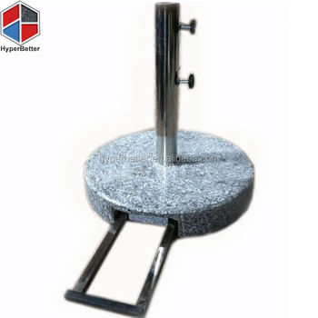Round Trolly granite sun umbrella base