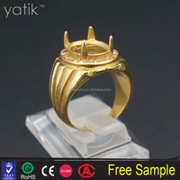 Oval Gold Full Cut Diamond Semi Mount indonesia titanium ring silver ring mount wholesale alibaba