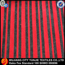 100% polyester heavy fabric/flocked upholstery fabric