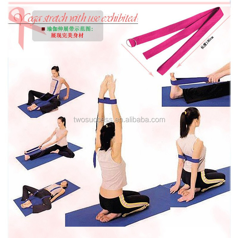 hot selling cotton yoga straps, fitness yoga band (3).jpg