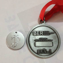 New hot sale antique silver marathon sports medal with high quality