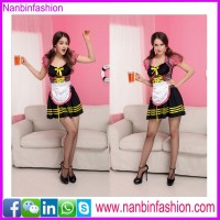 Ninbinfashion hottest sexy bar maid costume for ladies