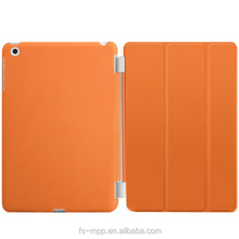 2015 Ultra Thin Magnetic orange Smart Case Cover + Back Case For iPad mini