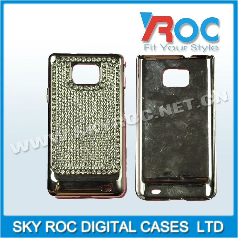 shiny Rhinestone Bling Case For Galaxy s2 diamond case