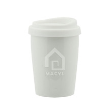 230ml/9oz mini size porcelain mug with silicon lid