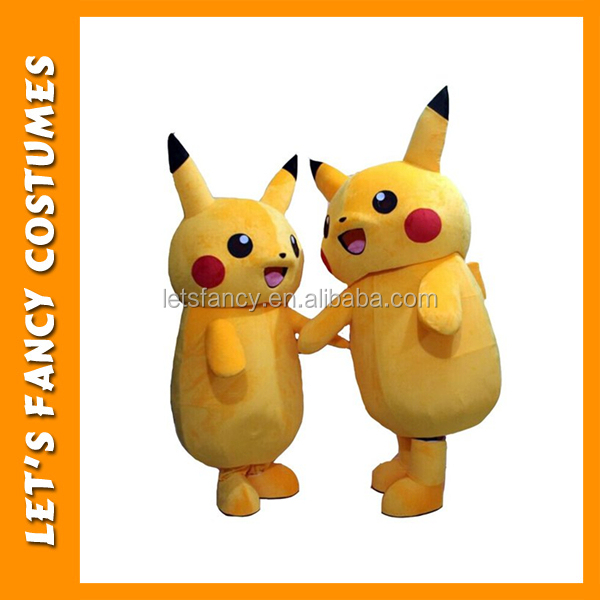 PGWC3099 Popular Kids Party Cartoon Pikachu Mascot Costume Animal Costume For Adult