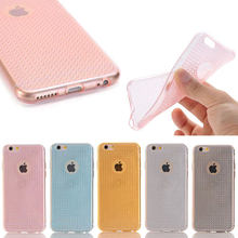 For iphone 6/6s, New Fashion Bling Diamond Pattern Colorful Transparent Clear TPU Case