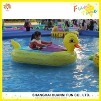 Hot-selling amusement Colorful and animals style kids water boat paddle boat electric bumper boat