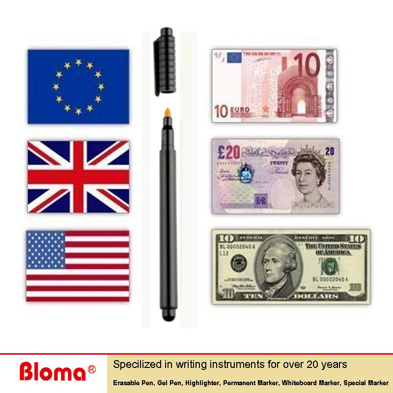 Hot Sell Bloma Pro Counterfeit money detector Pens for universal banknote