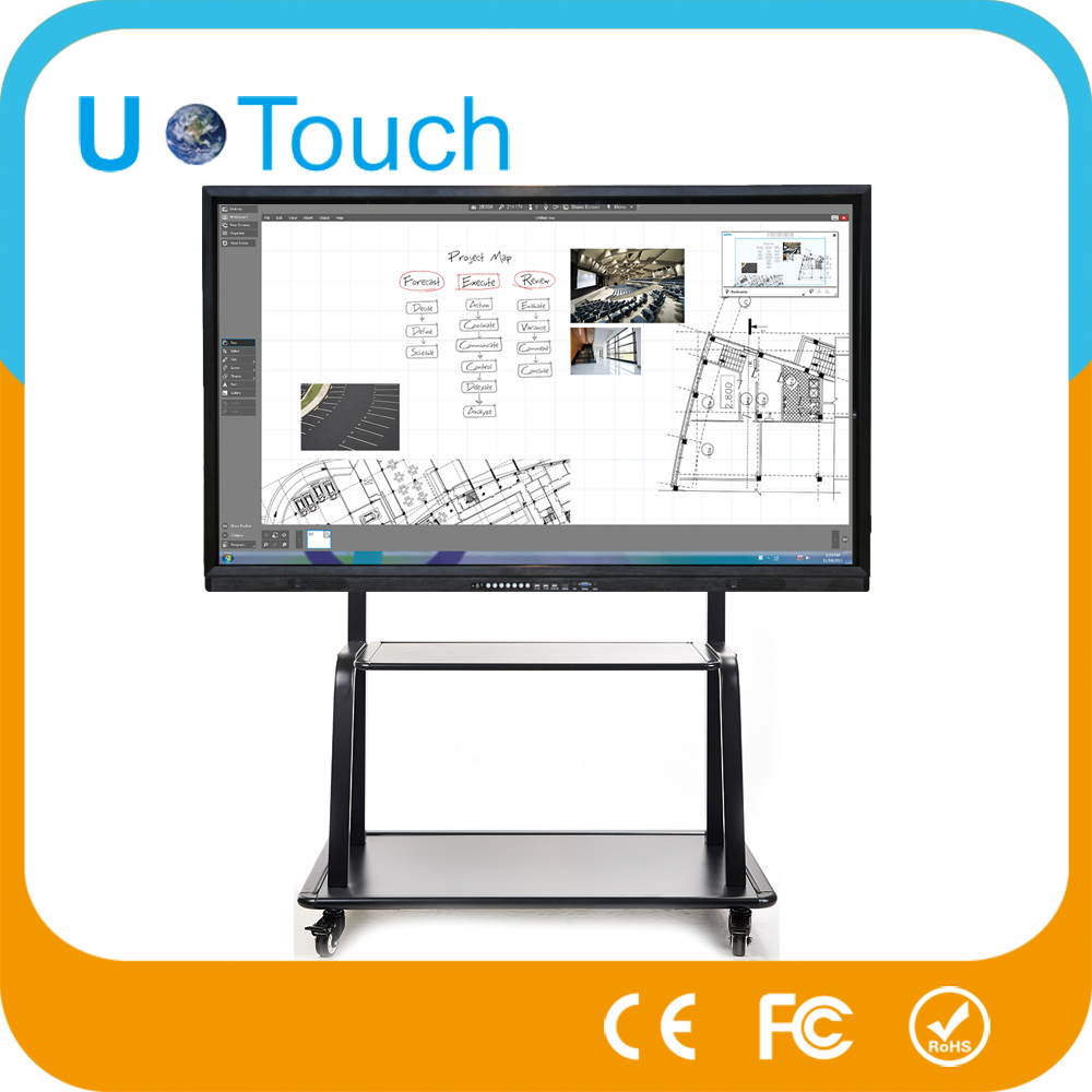 Computer all in one touch screen pc 50 inch lcd panel