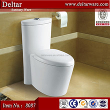 one piece wc, washdown/siphonic toilet outlet 4 inch, china toilet save water design from chaozhou