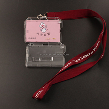 BSCI Customized hard case card holder with strap