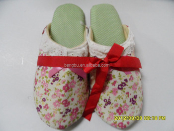beautiful good-stlye flower indoor slipper