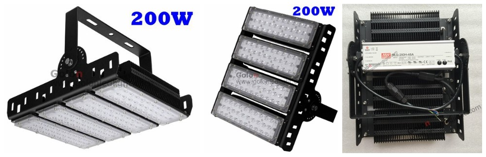 led tennis court lighting 200w 150W 130Lm/W IP65 outdoor indoor sport field flood light for badminton court