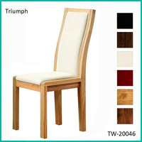 Denish style high quality upholstered dining chairs with arms
