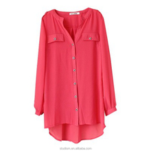 hot sale Loose Fit Blouse wholesales tunic tops lady blouse