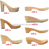 Wholesale Female wood soles high heels