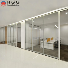 Clear Frosted Tempered glass panels used for interior office partition living room glass partition