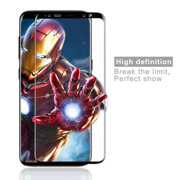 3D Curved 0.3mm Tempered Glass Screen Protector For Samsung S9