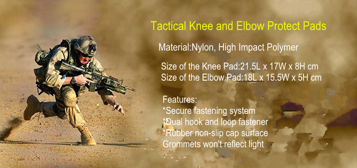 high quality police military Tactical Knee and elbow Pads