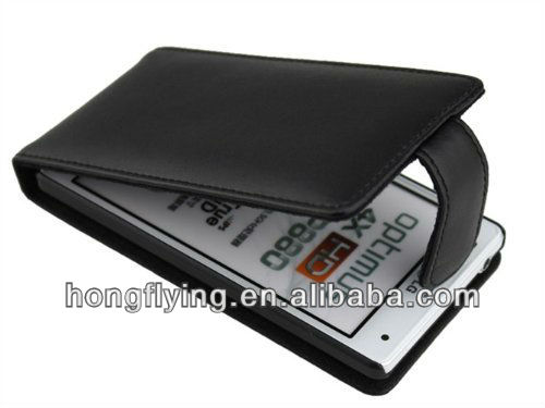 PU Leather Flip Case Cover for LG Optimus 4X HD P880