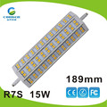 2015 HOT SELLING 5w,8w,10w,13w,15w 189MM r7s led 360 degree with CE,ROHS