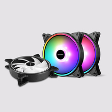 <strong>RGB</strong> Cooling Fan Double Aperture colorful LED Computer Case <strong>RGB</strong> Adjust Quiet IR Remote Cooler Fans For CPU