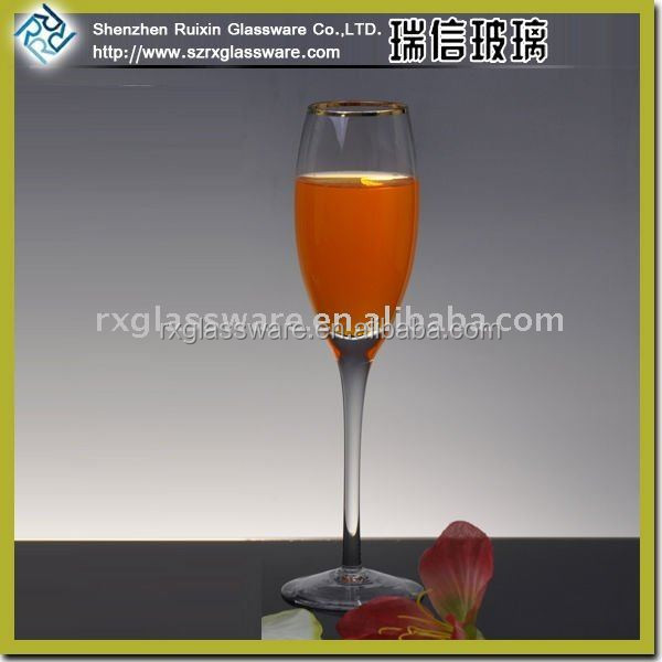 Gold rimmed champagne glass RXG532 Promotional Champagne Glass
