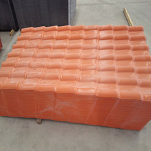 Chinese red Acoustic and heat insulation plastic spanish roof tile