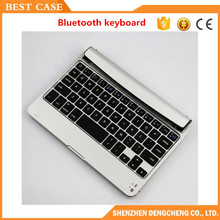 Ultra Slim Mini Wireless Bluetooth 3.0 Keyboard Case For iPad Mini 1 2 3 4 Stand Case Aluminum ABS Material