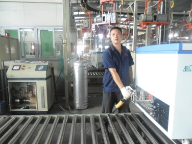 Refrigeration fluid filling