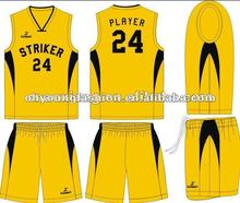 Fashion custom design basketball wear, basketball top and short, 65%poyester35%cotton,200gsm