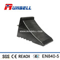 Solid Rubber Wheel Chock Block with Steel Handle