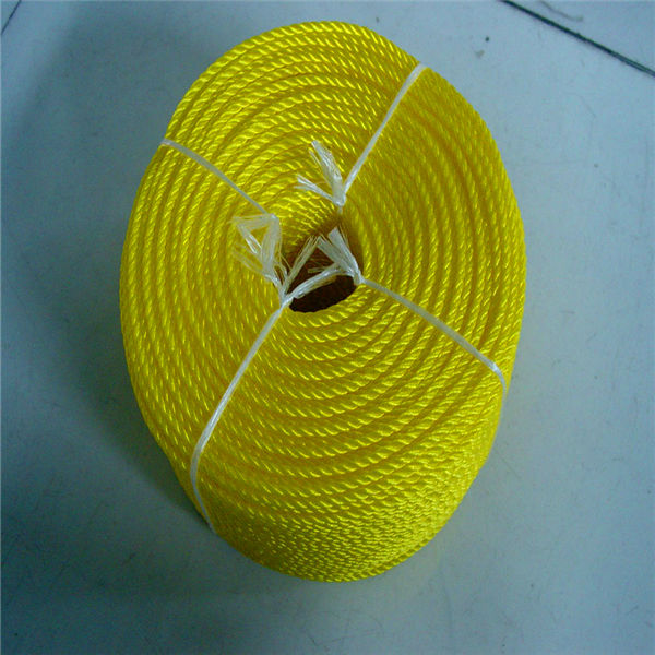 Polyester rope in wood spool braided plastic rope