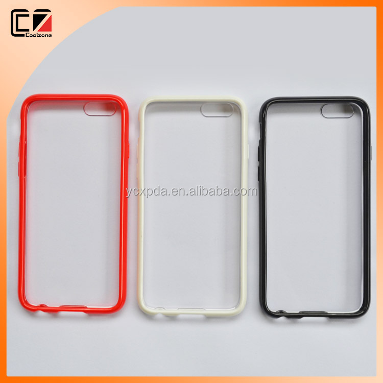 PC+TPU two-tone cover for iphone 6,for iphone 6 cover