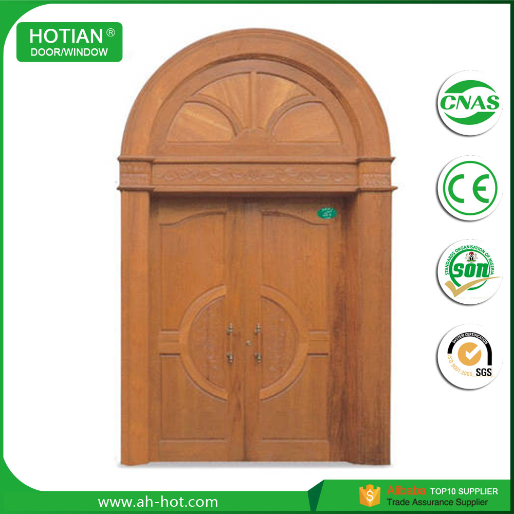 Arch Top Wood Gate Door Exterior Church Arched Shape Door Cheap Price