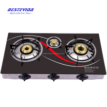2018 HOT SELLING BEST QUALITY Table 2 Burner Tempered Glass Gas Cooker