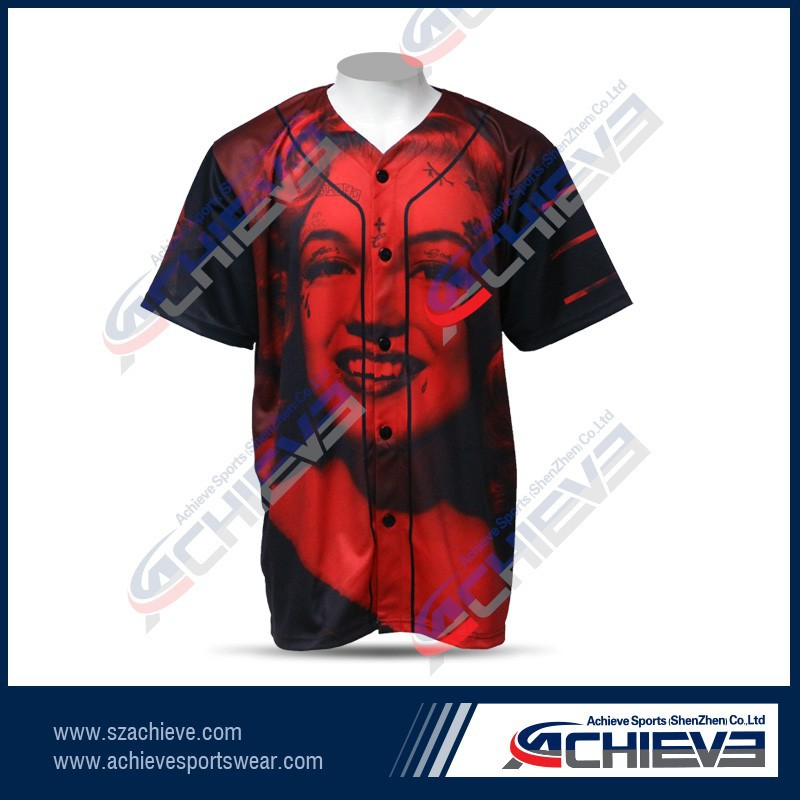 active sublimation custom baseball jerseys vintage league team baseball uniforms
