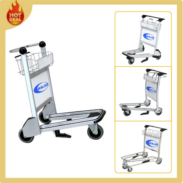 Supply Aluminum Airport Luggage Baggage Trolley Cart