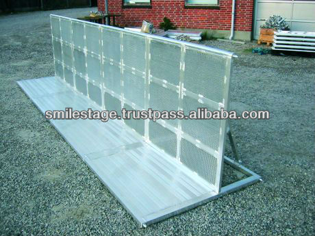 hot dipped galvanized concert crowd control barrier
